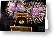 Fireworks At Ten Greeting Card