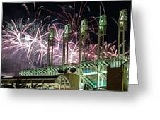 Fireworks At The Jake Greeting Card