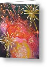 Fireworks Celebration Greeting Card by Bobbi Baltzer-Jacobo