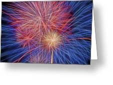 Fireworks Celebration Glow Square Greeting Card
