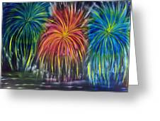 Fireworks Explode Greeting Card
