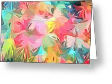 Fireworks Floral Abstract Square Greeting Card