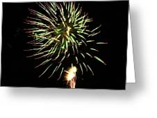Fireworks From A Boat - 8 Greeting Card by Jeffrey Peterson