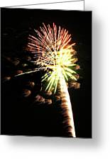 Fireworks From A Boat - 9 Greeting Card