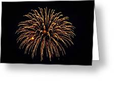 Fireworks - Gold Dust Greeting Card
