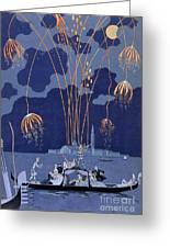 Fireworks In Venice Greeting Card
