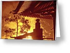 Fireworks, Japan Pavilion, Epcot, Walt Disney World Greeting Card