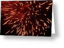 Fireworks Light Up The Sky While Celebrating Bastille Day Greeting Card by Sami Sarkis