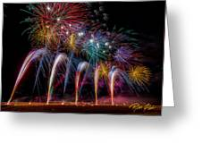 Fireworks Line Greeting Card