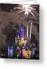 Fireworks Over Disney Castle Greeting Card