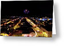 Fireworks Over Hudson Greeting Card