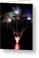 Fireworks Over Lake #14 Greeting Card