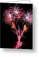 Fireworks Over Lake #15 Greeting Card