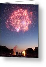 Fireworks Over Lincoln Greeting Card