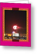 Fireworks Over The Las Vegas Strip Greeting Card