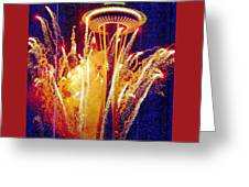 Fireworks Seattle Greeting Card