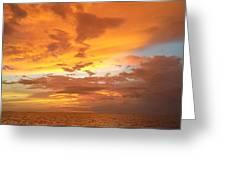Firey Sky Greeting Card
