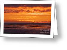 Firey Sunset Sky Greeting Card