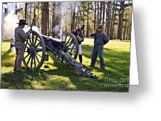 Firing The Cannon Greeting Card