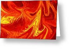 Firing Up Abstract  Greeting Card
