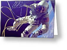 First American Walking In Space, Edward Greeting Card