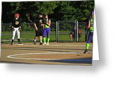 First Base Coach Greeting Card