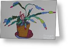 First Bloom Christmas Cactus Greeting Card