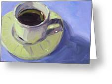 First Cup Greeting Card
