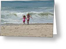 First Day At Beach Greeting Card