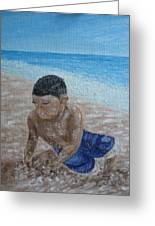 First Day At The Beach Greeting Card