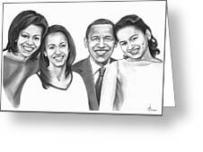 First-family 2013 Greeting Card
