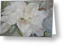 First Gardenia Greeting Card by Dorothy Herron