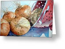 First Harvest Greeting Card by Bobbi Price