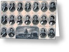 First Hundred Years Of American Presidents Greeting Card