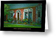 First Impressions Salon In Woodstock Vermont Greeting Card