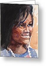 First Lady In Blue Greeting Card