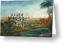 First Landing Of Christopher Columbus Greeting Card
