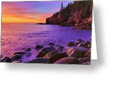 First Light At Boulder Beach Greeting Card