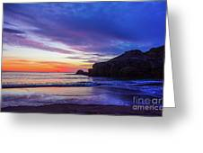 First Light At Trow Rocks. Greeting Card
