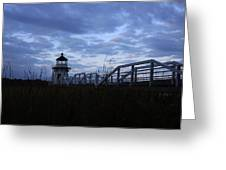 Daybreak At Doubling Point Light  Greeting Card
