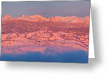 First Light Colorado Rocky Mountains Panorama Greeting Card