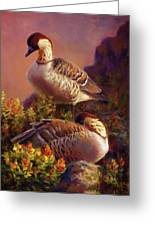 First Light Nene Hawaiian Goose Greeting Card