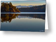 First Light On Fannette Island Greeting Card