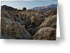 First Light Over Alabama Hills California Greeting Card