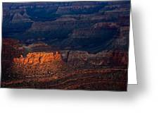 First Light Over Yavapai Point  Grand Canyon Greeting Card