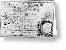 First Map Of Louisiana Greeting Card