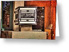 First National Bank Of Dwight Greeting Card