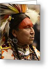 Pow Wow First Nations Man Portrait 1 Greeting Card