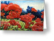 First Of Poppies Greeting Card