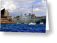 First Peak At Australia's Newest Warship Greeting Card